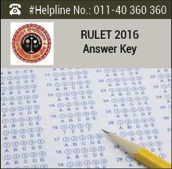 RULET 2016 Answer Key