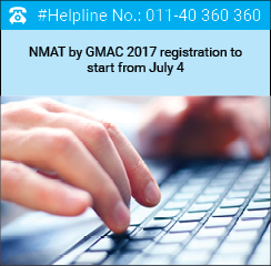 NMAT by GMAC 2017 registration to start from July 4