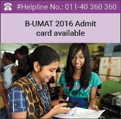 B-UMAT 2016 admit card download starts