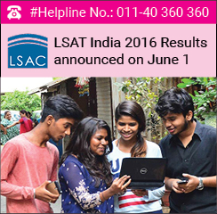 LSAT India 2016 Results announced on June 1