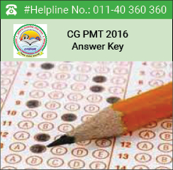 CG PMT 2016 Answer key