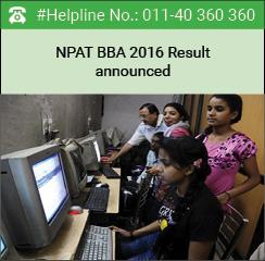 NPAT BBA 2016 merit list declared on June 2