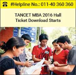 TANCET MBA 2016 Hall Ticket download starts from June 1
