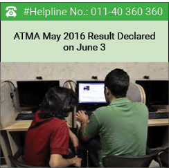 ATMA May 2016 second test result declared on June 3