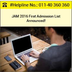 JAM 2016 Round 1 Admission List Announced!