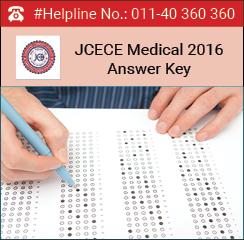 JCECE Medical 2016 Answer Key