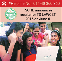 TSCHE announces TS LAWCET 2016 result on June 6