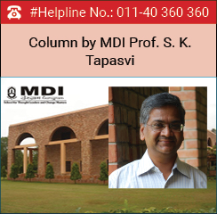 Public Policy Management as career in India: Column by MDI Prof. S. K. Tapasvi