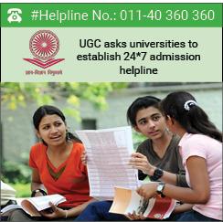 Establish 24X7 admission helpline, UGC asks universities