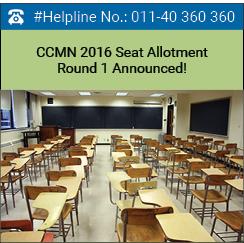 CCMN 2016 Seat Allotment Round 1 Announced!