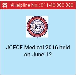 JCECE Medical 2016 held on June 12