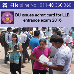 DU issues admit card for LLB entrance exam 2016
