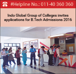 Indo Global Group of Colleges invites applications for B.Tech Admissions 2016