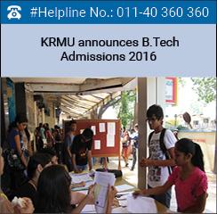 KRMU announces B.Tech Admissions 2016