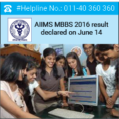 AIIMS MBBS 2016 result declared on June 14