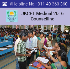 JKCET Medical 2016 Counselling
