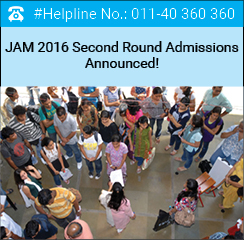 JAM 2016 Second Round Admissions Announced!