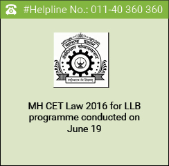 MH CET Law 2016 for LLB programme conducted on June 19