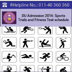 DU Admission 2016: Sports trials and fitness tests begin from June 24