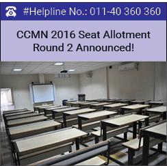 CCMN 2016 Seat Allotment Round 2 Announced!