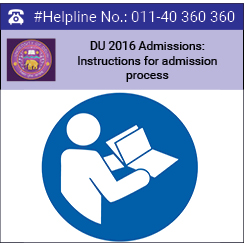 DU 2016 Admissions: Instructions for admission process