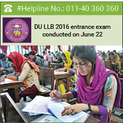 DU LLB 2016 entrance exam conducted on June 22