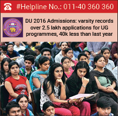 DU 2016 Admissions: varsity records over 2.5 lakh applications for UG programmes, 40k less than last year