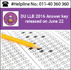 DU LLB 2016 Answer Key released on June 22; file objections by June 27