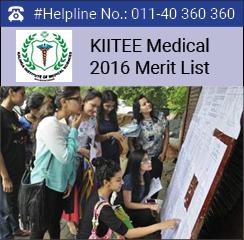 KIITEE Medical 2016 Merit List