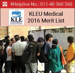 KLEU Medical 2016 Merit List