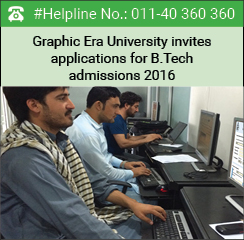 Graphic Era University invites applications for B.Tech admissions 2016