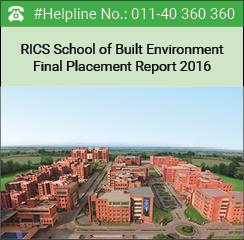 RICS School of Built Environment Final Placement Report 2016 - Consulting and Financial Services offer 38% jobs