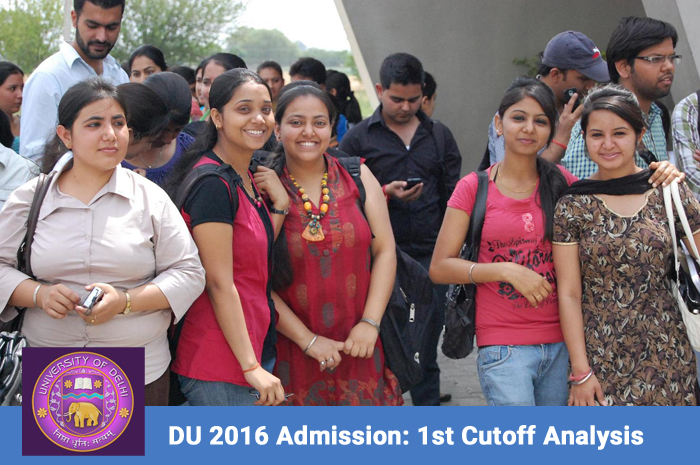 DU 2016 admission:  Highest cut-off restricted to 99.25% in first list