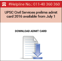 UPSC Civil Services prelims admit card 2016 available from July 1