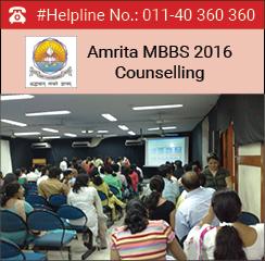 Amrita MBBS 2016 Counselling