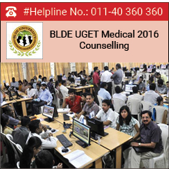 BLDE UGET 2016 Counselling