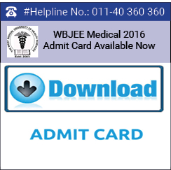 WBJEE Medical 2016 Admit Card Available from July 6