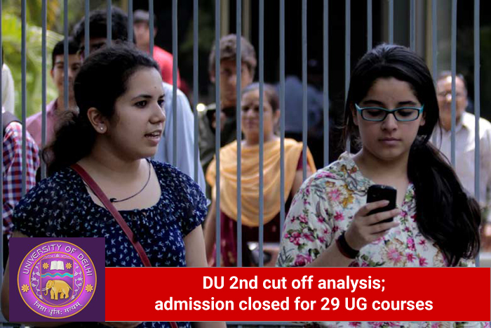 DU 2nd cut off analysis; admission closed for 29 UG courses