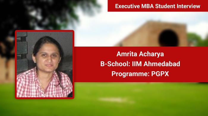 The professors teach us to think like leaders and take decisions, says Amrita Acharya, PGPX, IIM Ahmedabad