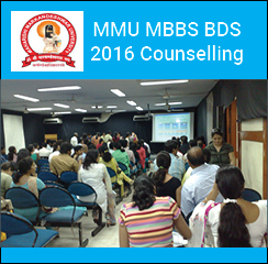 MMU MBBS BDS 2016 Counselling