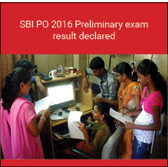 SBI PO 2016 Preliminary exam result declared on July 17