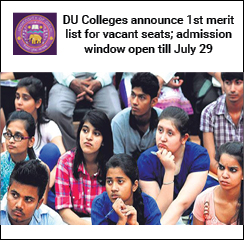 DU Admission 2016: First merit list for vacant seats announced; Admission window open till July 29