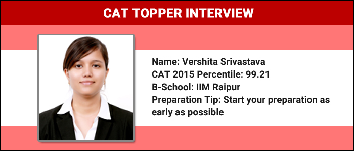CAT Topper Interview: Revise theories to tackle weak areas, says CAT 99.2 percentiler, Vershita Srivastava