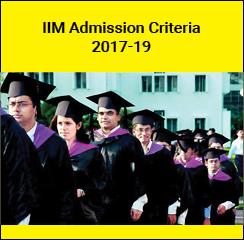 IIM Admission Criteria 2017-19