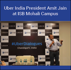 Uber India President Amit Jain addresses ISB Mohali campus students