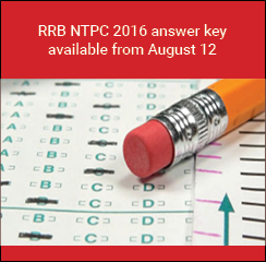 RRB NTPC 2016 answer key available now