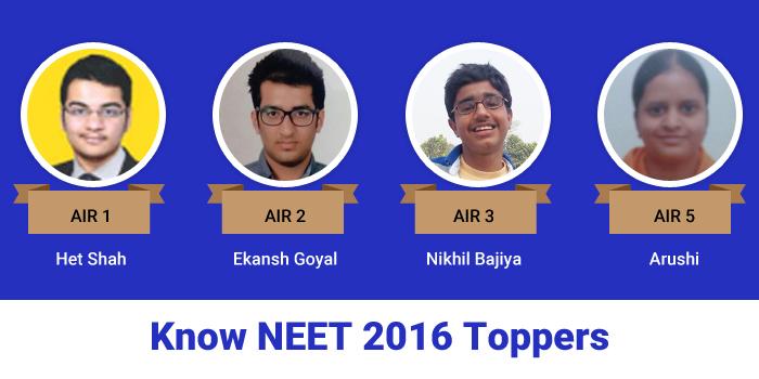 NEET 2016 Result: Top rankers