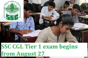 SSC CGL 2016 exam begins from August 27