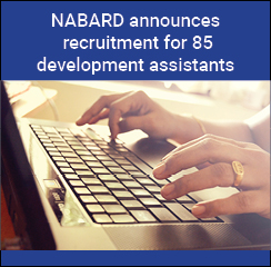 NABARD announces recruitment for 85 development assistants