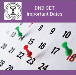 DNB CET Important Dates 2017